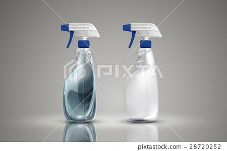 two plastic spray bottles 28720252