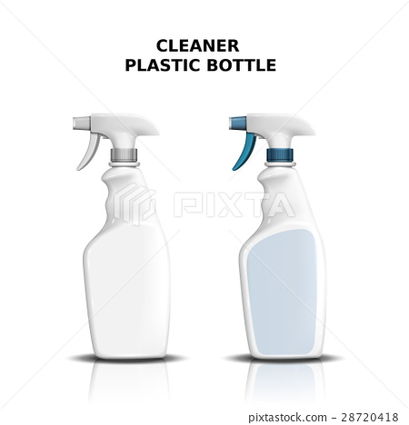 Cleaner plastic bottle mockup 28720418