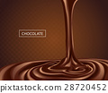 Delicious chocolate flowing down 28720452