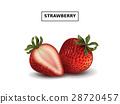 Fresh and ripe strawberries 28720457