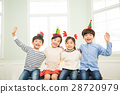 Young Children Sitting Together In A Room 28720979