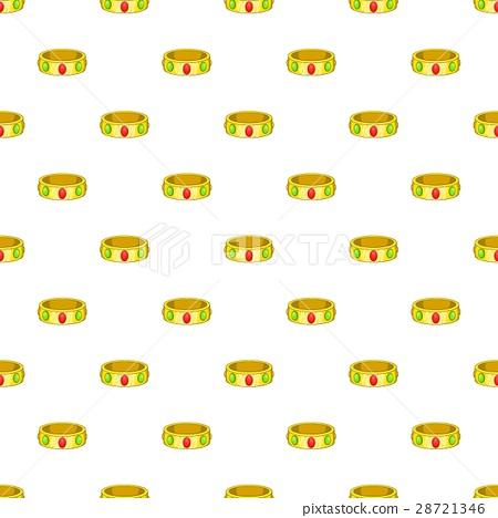 Gemstone bracelet pattern, cartoon style 28721346