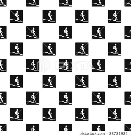 Sign escalator pattern, simple style 28721922
