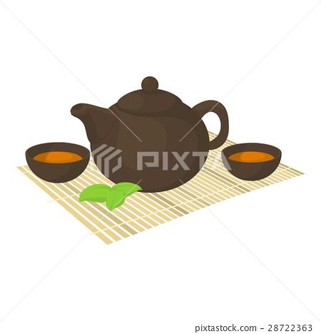 Tea ceremony icon, cartoon style 28722363