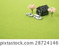 주택과 벚꽃 나무 모형 28724146