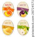 Set of labels of berries and fruit.  28724571