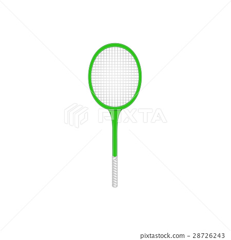 Tennis racket in retro design on white background 28726243