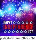 Fireworks background for 4th of July 28729761