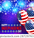 Fireworks background for 4th of July 28729763
