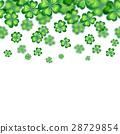 Saint Patrick's Day border. Vector illustration 28729854