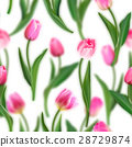Floral pattern. Realistic tulips with blurred 28729874