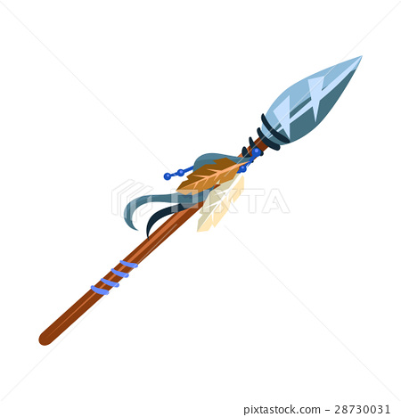 Warriors Spear Cold Weapon, Native American Indian 28730031