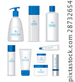 Sea Series Cosmetic Set Isolated. Vector 28732654