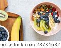 扁桃仁 蓝莓 早餐 28734682