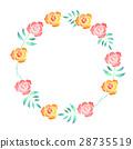 원형, 꽃, 장미 28735519