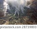 Active sulphur vents of Owakudani at Fuji volcano 28739803