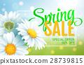 Springr sale concept. Summer background with 28739815