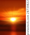 Natural background with sunset at sea. Eps 10 28739822