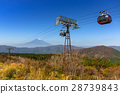 Ropeway to the Mount Fuji, Japan 28739843