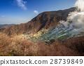 Active sulphur vents of Owakudani at Fuji volcano 28739849