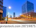 Cityscape of Yokohama city at dusk, Japan 28739875