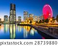 Cityscape of Yokohama city at night, Japan 28739880