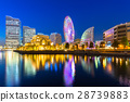Cityscape of Yokohama city at night, Japan 28739883