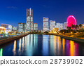 Cityscape of Yokohama at night, Japan 28739902