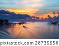 泰國 日出 湖泊 28739956