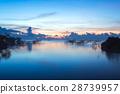 泰國 日出 湖泊 28739957