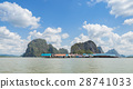 Floating fishing village in Thailand 28741033