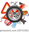 Vector Wheel with Car Accessories 28741062