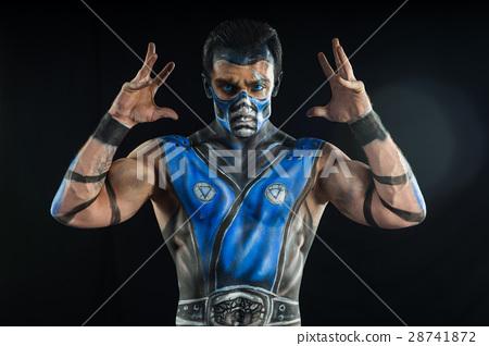 Professional bodyart Sub-Zero from Mortal Kombat 28741872