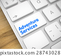 Adventure Services - Message on the White Keyboard 28743028