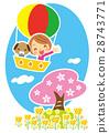 樱花 樱桃树 气球 28743771