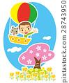 樱花 樱桃树 气球 28743950