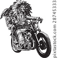 on the bike - native americans drive a motorcycle 28745333