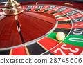 Casino Roulette Wheel stopped at zero 28745606