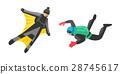 Skydiver man parachutist extreme sport freedom 28745617