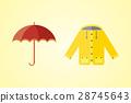 umbrella, jacket, vector 28745643