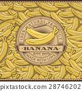 香蕉 標籤 復古 28746202