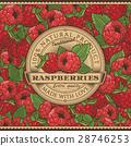 fruit, raspberries, label 28746253