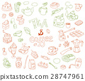 Big vector collection of doodle tae and coffee 28747961