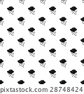 Cloud with rain pattern, simple style 28748424