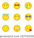 Emoji icons set, cartoon style 28750298