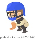 Protecting player icon, cartoon style 28750342