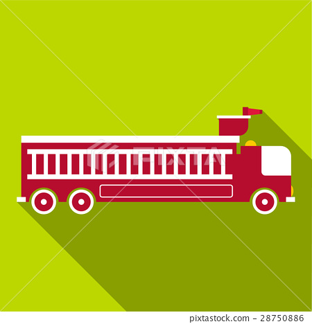 Fire engine icon, flat style 28750886