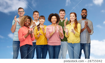 international group of happy smiling people 28755042