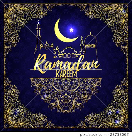 Ramadan Kareem. Islamic holiday vector shining 28758067