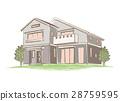 手写的样式房子的例证 28759595